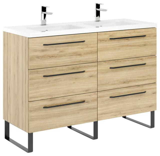 Denver 48 Bathroom Vanity With Ceramic, Bathroom Vanity 48 X 18