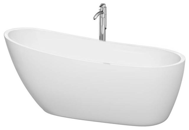Freestanding Bathtub, White.