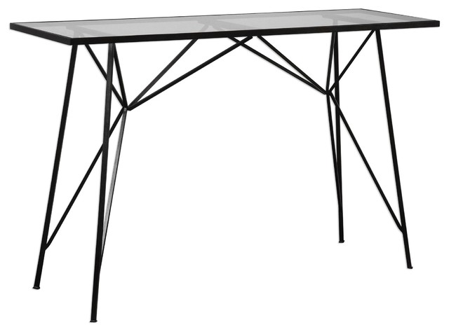 Industrial Architectural Console Table, Art Deco Hall Entry ...