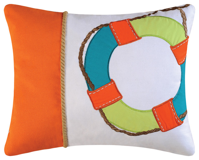 Life Saver Embroidery Pillow.