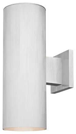 Up/Down Cylinder Outdoor Wall Light in Brushed Aluminum ...