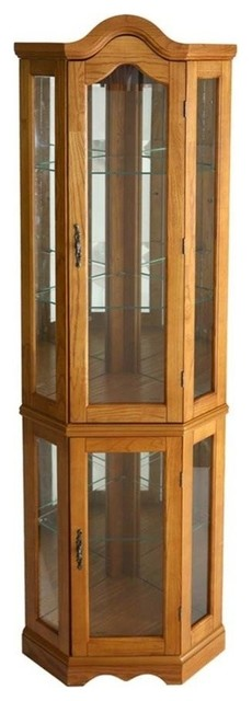 Lighted Corner Curio Cabinet - Traditional - China Cabinets And Hutches - by HedgeApple