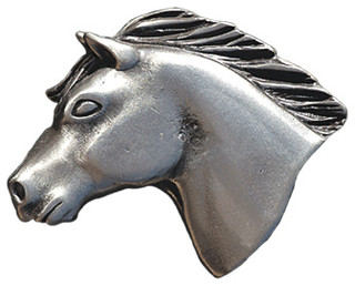 Pewter Horse Cabinet Knob - Southwestern - Cabinet And Drawer Knobs ...