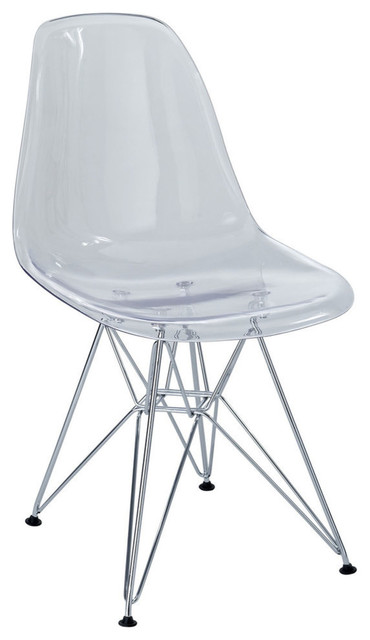 Paris Dining Side Chair, Clear.