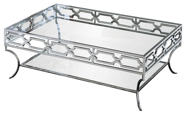 Abigail Silver With Glass Living Room, Glass Living Room Furniture