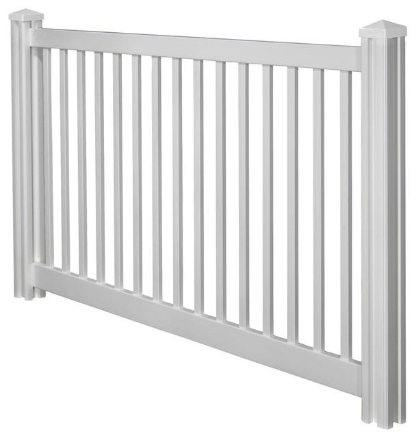 4 X7 Premium Yard Amp Pool Vinyl Fence Panel W Post Amp Cap
