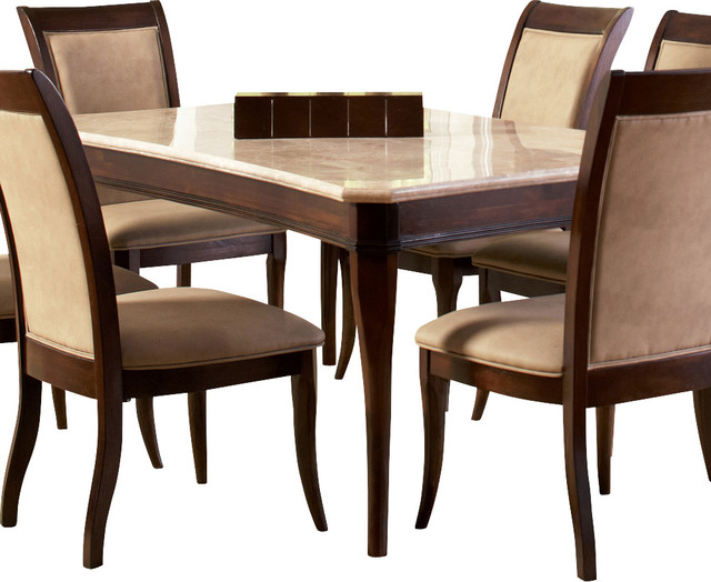 13f2f1fe1c Steve Silver Marseille Dining Table in Merlot Cherry - Dining Tables ...