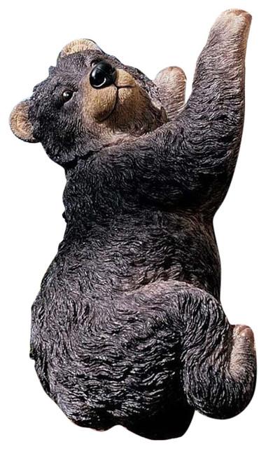 Yonva The Climbing Black Bear Statue Rustic Garden Statues And Yard