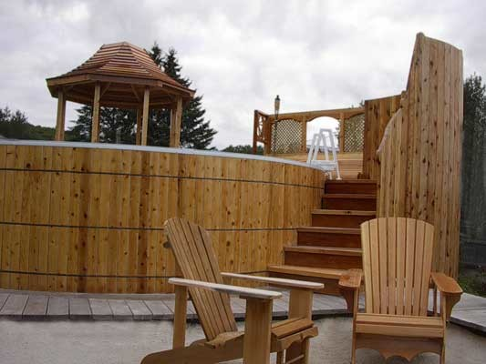 above ground wooden swimming pools traditional