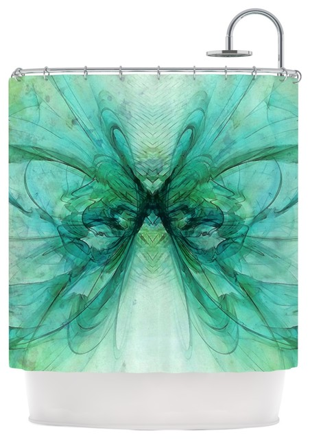 Shower Curtains black and blue shower curtains : Kess InHouse Alison Coxon
