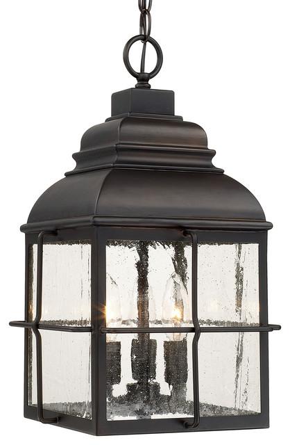 Lanier 3-Light Hanging Lantern, Old Bronze.