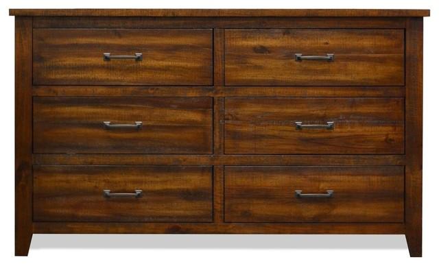 Wyatt Chestnut Brown 6 Drawer Dresser.