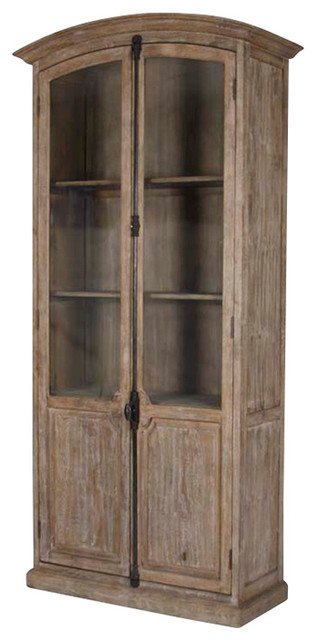 Zentique Inc. Stephan French Country European White Wash Standing Storage Display Cabinet ...
