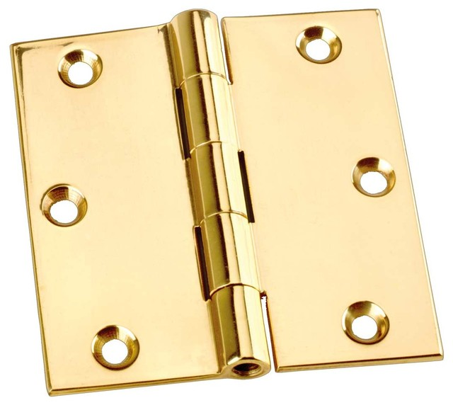 """Cabinet Hinges Chrome Solid Brass Square 3""""x3"""" - Modern - Home Improvement - by Renovator's Supply"""