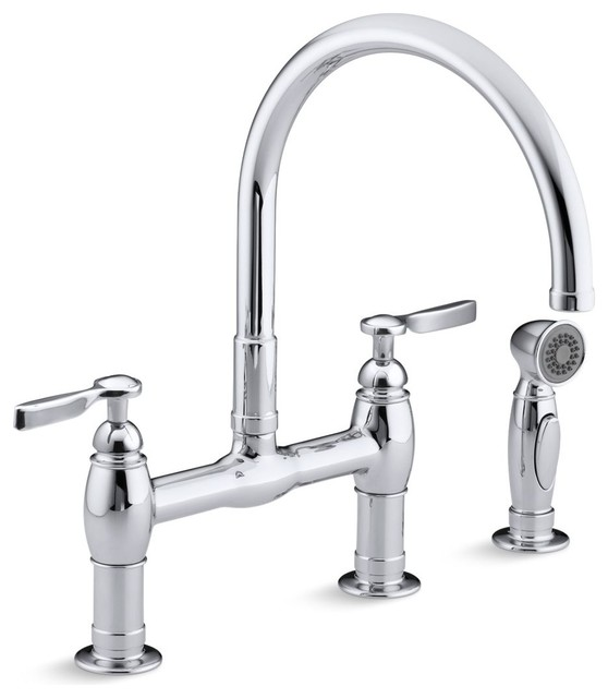 Kohler Parq Deck Mount Kitchen Faucets With Spray