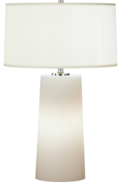 Rico Espinet Olinda Accent Lamp, White, Frosted White Cased Glass Base