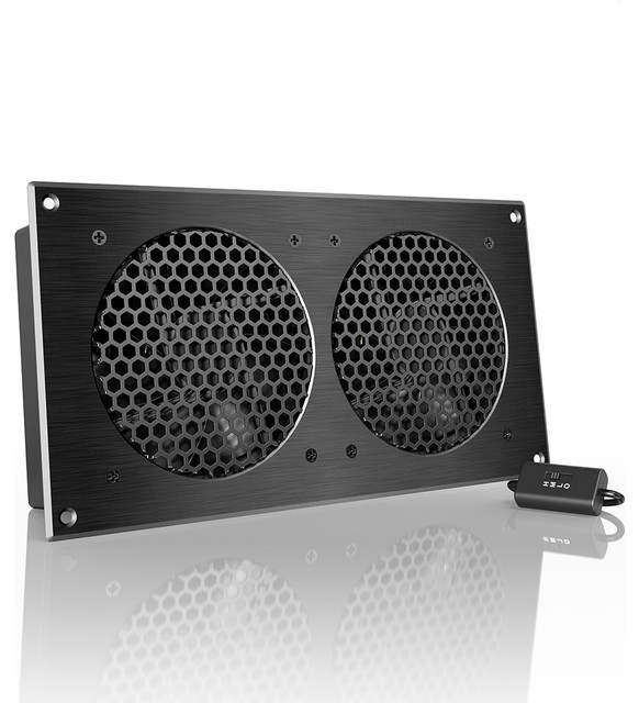 """AC Infinity AIRPLATE S7, Home Theater and AV Cabinet Cooling Fan System 12"""" - Contemporary ..."""