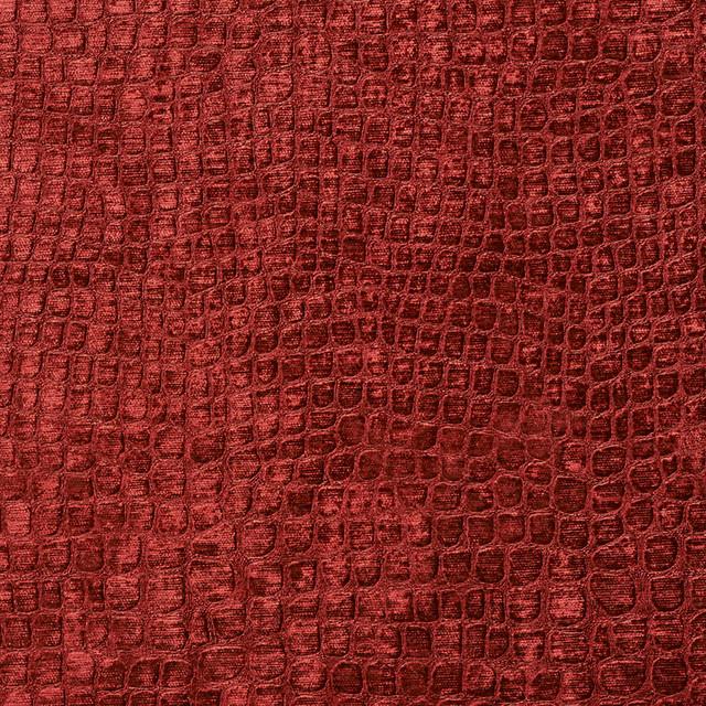 Burgundy Alligator Print Shiny Woven Velvet Upholstery
