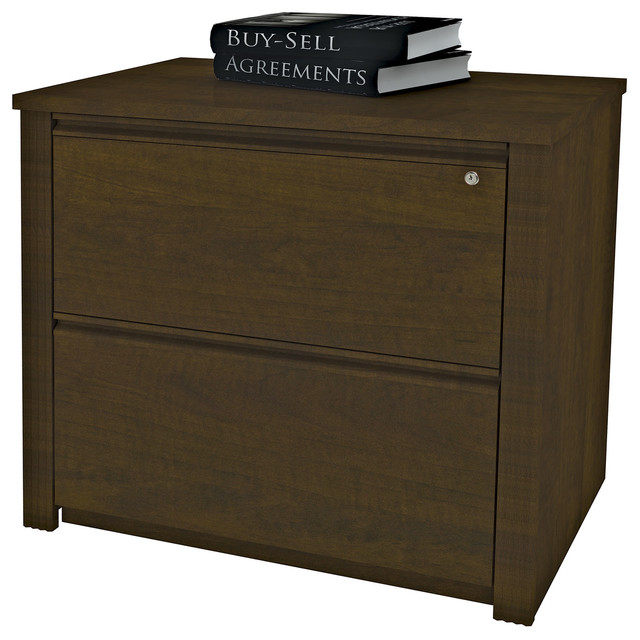 """Bestar Prestige 36"""" Assembled Lateral File, Cognac Cherry - Filing Cabinets 