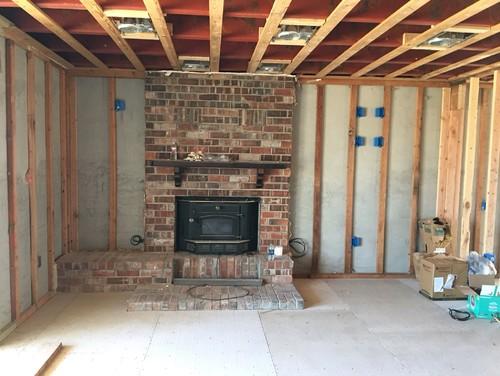 Offset fireplace