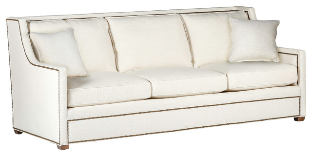 Gabby Hardy High Back 3-Cushion Sofa, Cream Zulu Vanilla