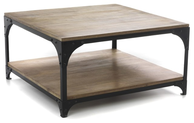 Table basse salon carre for Table basse carre industriel