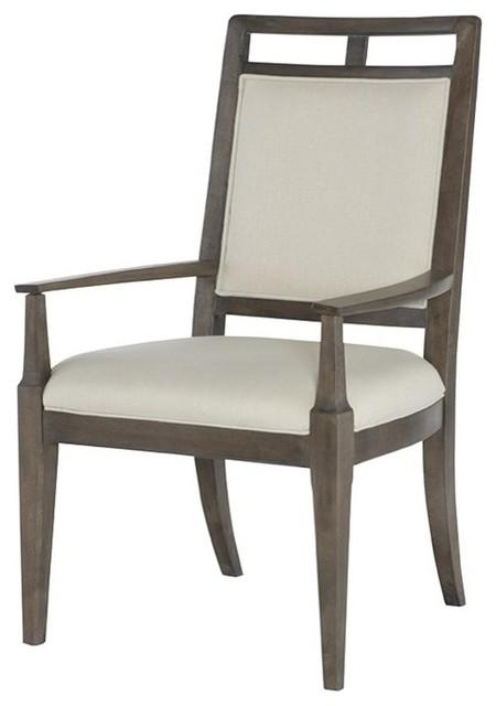 American Drew Park Studio Wood Back Arm Chair KD Oak Transitional Dini