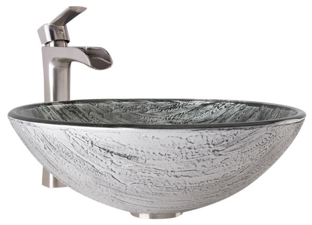 Superieur Jackson Vessel Sink And Faucet Set