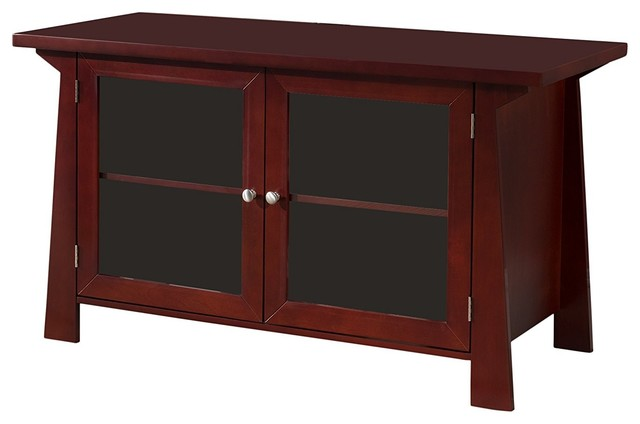 """42"""" Cherry Wood Entertainment Center Tv Console Stand."""
