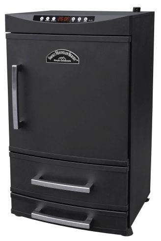 "32"" Smoky Mountain 2 Drawer Electric Smoker Black."