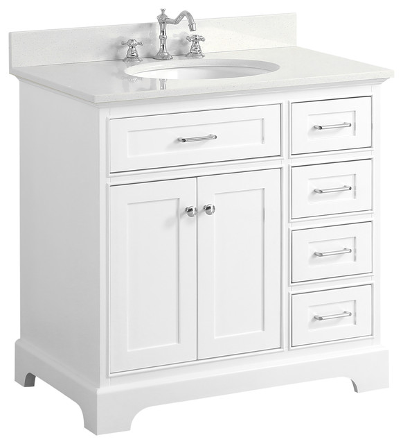 36 in bathroom vanity with top. Aria Bath Vanity  White With Quartz Top 36 transitional bathroom vanities Transitional Bathroom Vanities And Sink