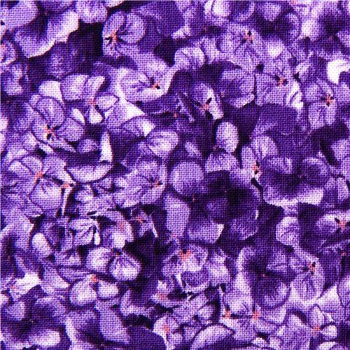 Robert Kaufman flower fabric with purple violets