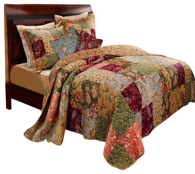 Greenland Antique Chic Collection Quilt Set Farmhouse