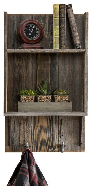 "Reclaimed Wood Bathroom Shelf, 29""x17""x6"", Barnwood"