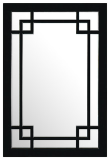 Elmwood window style mirror asian wall mirrors by for Asian style mirror