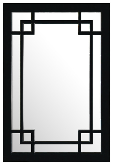 Elmwood Window Style Mirror Asian Wall Mirrors by China
