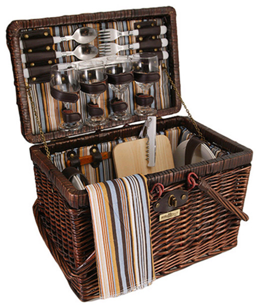 Picnic Baskets For 4 Ireland : Squaw willow person picnic basket traditional