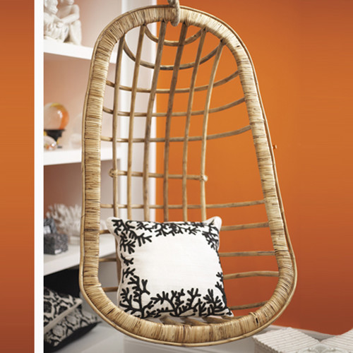 Hanging Rattan Chair by Twos Company® eclectic chairs