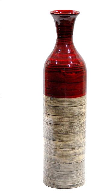 "Heather Ann Creations W33913-MRDNT Talia 24"" Spun Bamboo Bottle Vase"