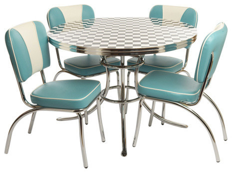 Chubbie Checker 1950 S Round Retro Dinette Set Contemporary Dining Sets By Totally Kids Fun Furniture Toys
