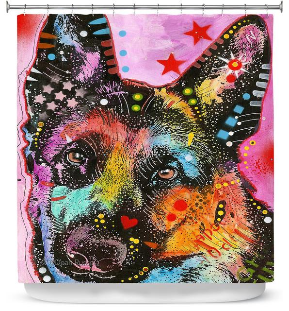 Dianoche Designs Shower Curtain By Dean Russo German Shepherd Dog 25