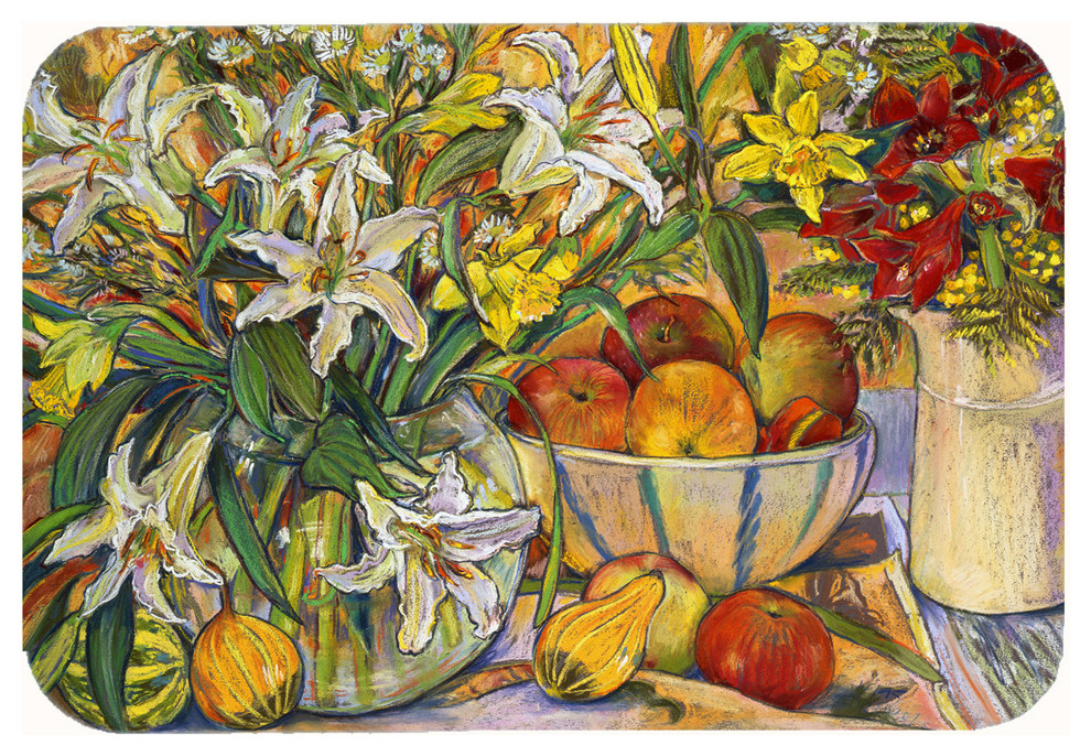 Fruit Flowers And Vegetables Kitchen Bath Mat 24 X36 Farmhouse Kitchen Mats By The Store
