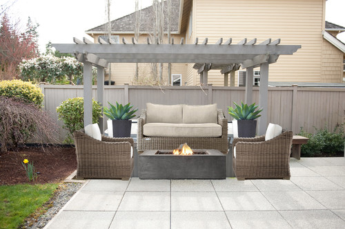 Exceptional My Concern With This Arrangement Is    Does It Feel Like The Furniture Is  Squished Into One Area Of The Patio (the Size Of The Furniture Might Seem  Off ...