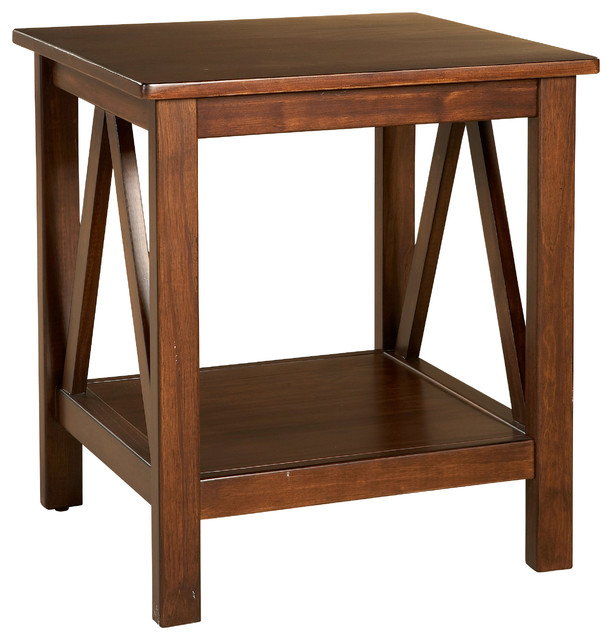 Titian End Table Antique Transitional Side Tables And End Tables