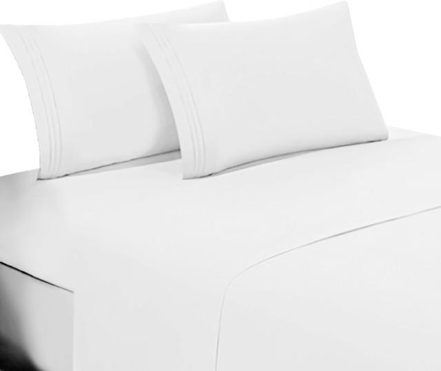 Extra Deep Pocket 4 pc Sheet Set 1000TC Egyptian Cotton US Sizes Black Solid