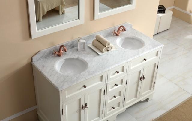 Casoria   Traditional Double Basin White Bathroom Vanities Traditional  Bathroom Vanities Part 77