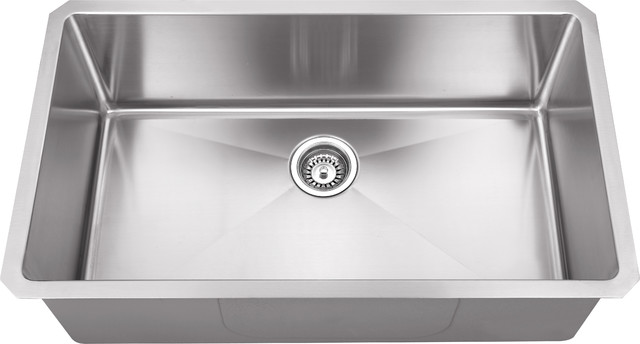 Hahn Chef Series Handmade Single Bowl - Contemporary - Kitchen Sinks ...