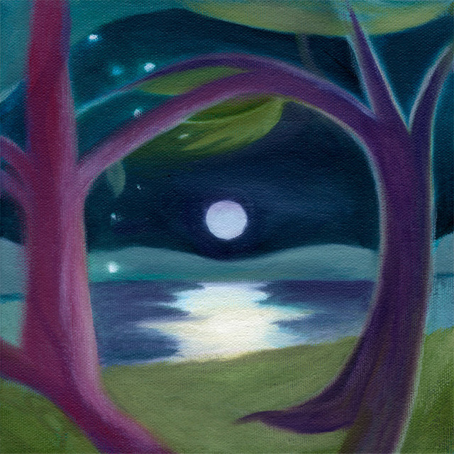 6f746bafe2 Mystical Stars in Moonlight, Archival Giclee Print by Susan Cohen Thompson  - Contemporary - Fine Art Prints - by Susan Cohen Thompson
