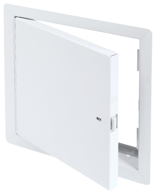 Fire Rated Un-Insulated Access Door with Flange, High Quality White Powder Coat