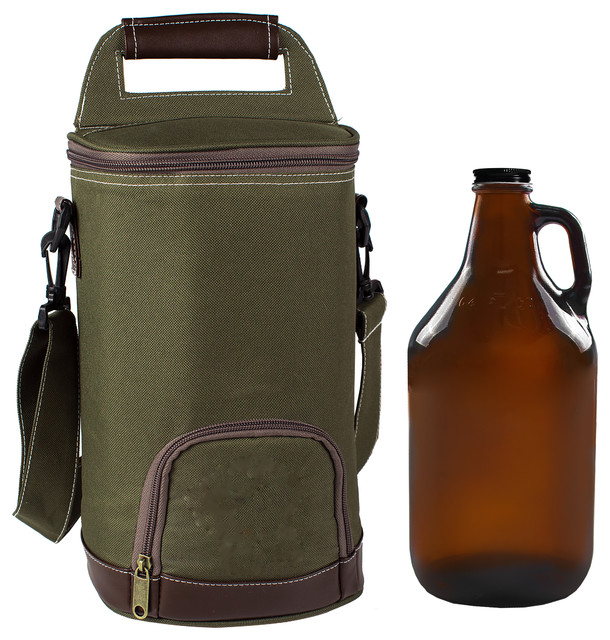 Personalized Insulated Growler Cooler With 64 Oz. Amber Growler ... fc294ff602aaf